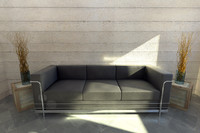 Couch w/ box end tables