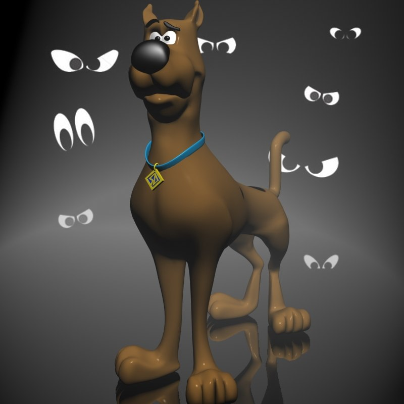 scooby-doo character toon rigged 3ds