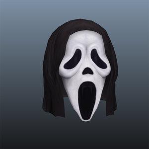 scream mask 3d ma
