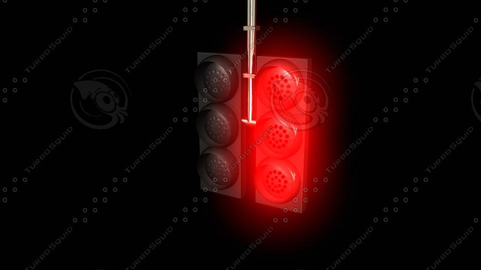 3d fbx semaforo semaphore