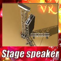 3d model speaker truss -