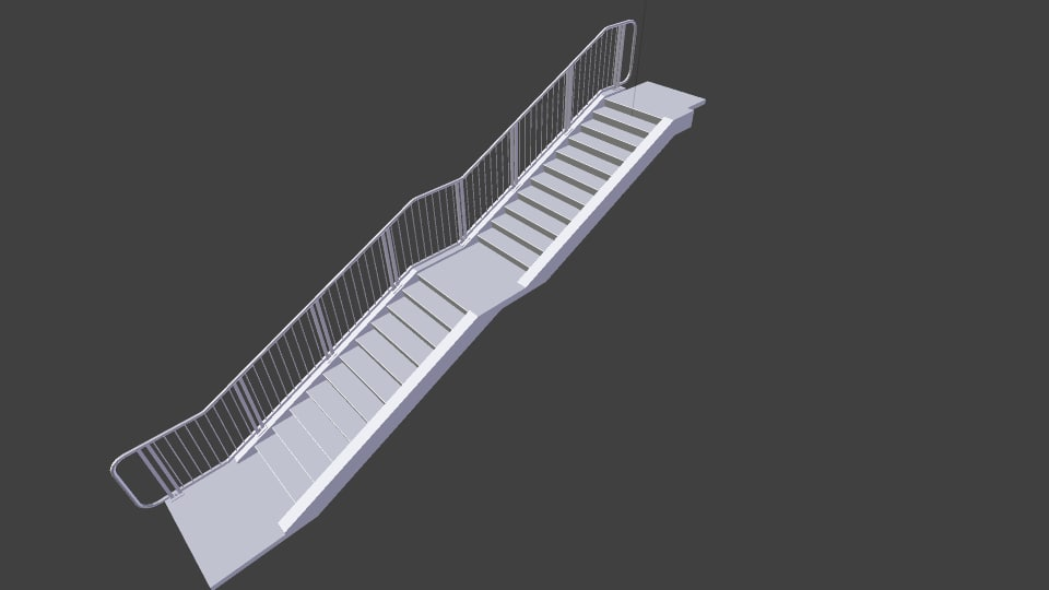 3d stairs handrails