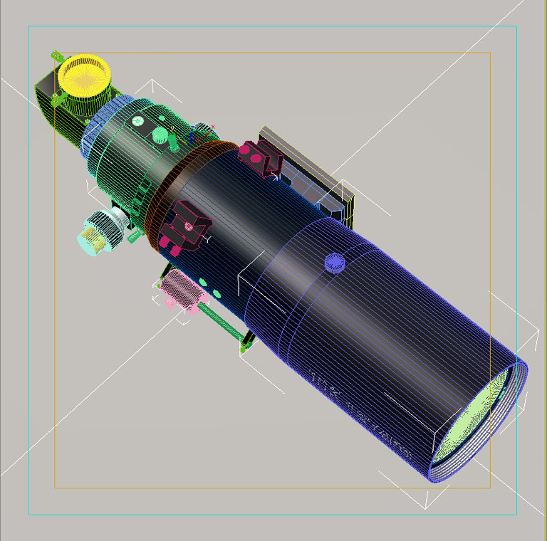 tko telescope 127mm scope 3d max