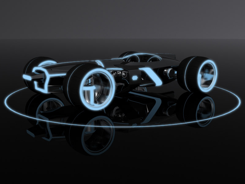 light runner tron legacy 3d obj