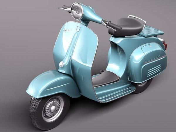 3d model vespa 150 super 1965
