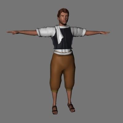 3d model character farmer