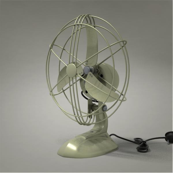 3d model table fan