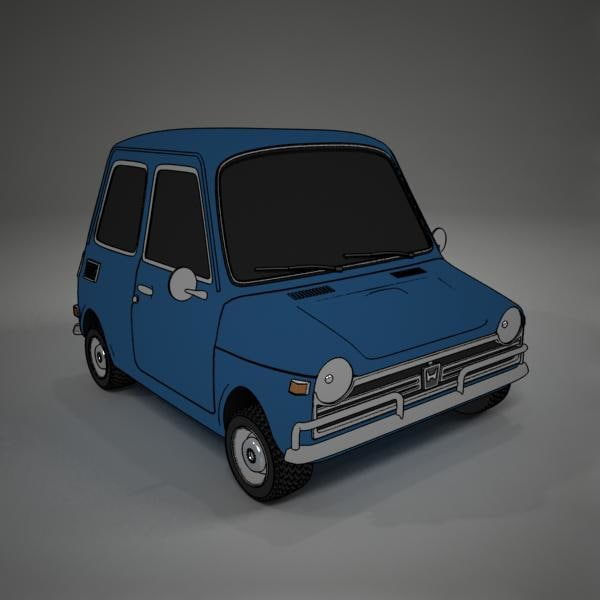 cartoon honda n600 toon 3d max