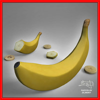 3d realistic banana model