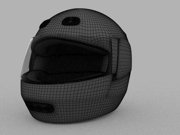 3ds max motorcycle helmet