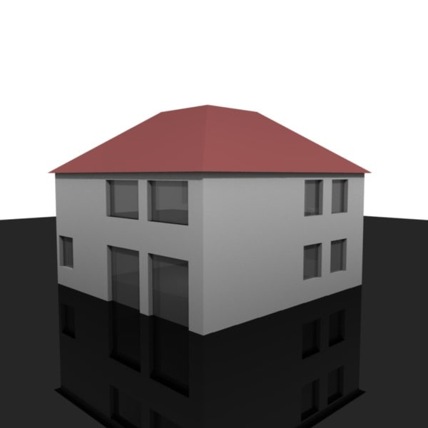 house roof 3d 3ds