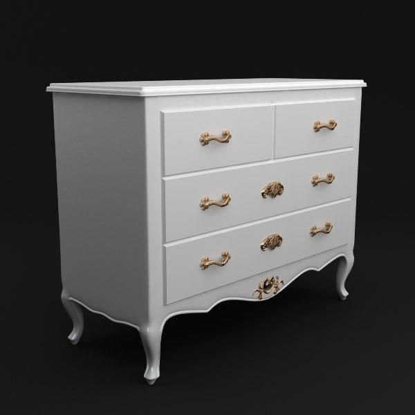 dresser antique 3d model