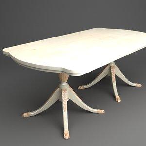 classical table obj
