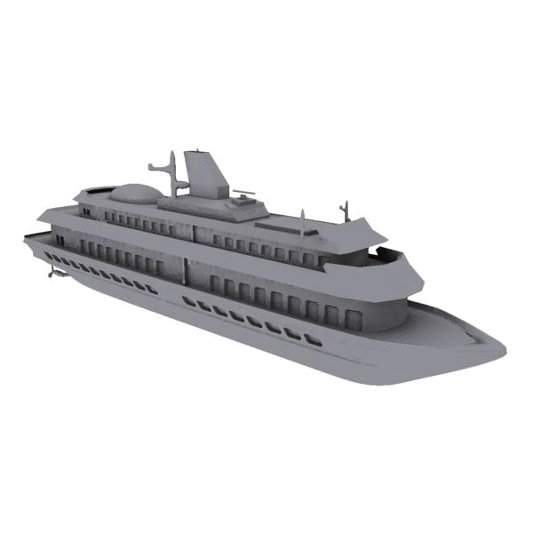 ferry 3d model