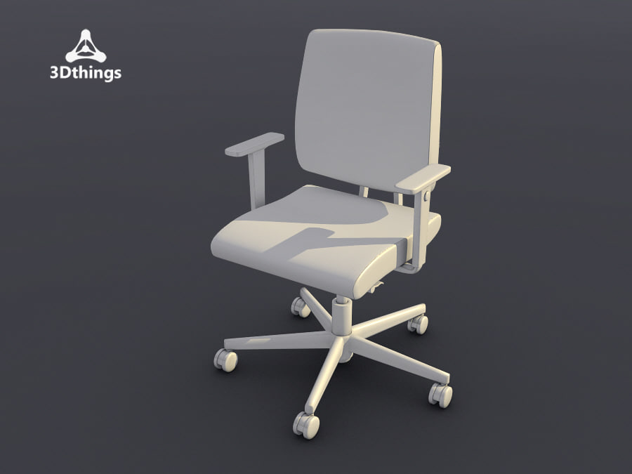conference chair black dot 3d model