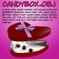 3d candy valentine s
