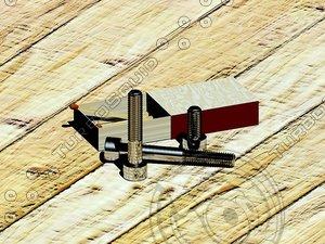 screws bolts din 912 3d dwg