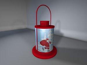 xmas lantern 3d 3ds