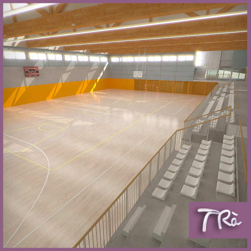 basketball arena 3d max