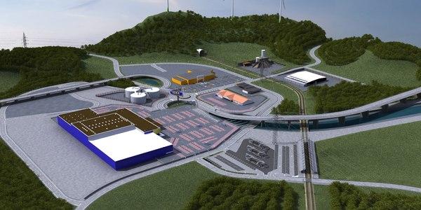 3ds max industrial estate