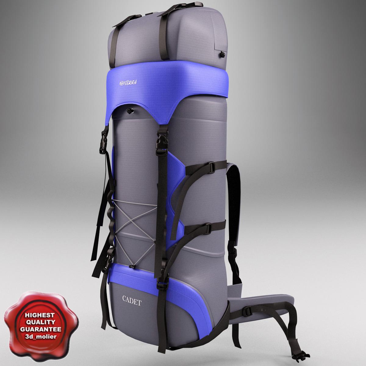 3d large travel backpack v1