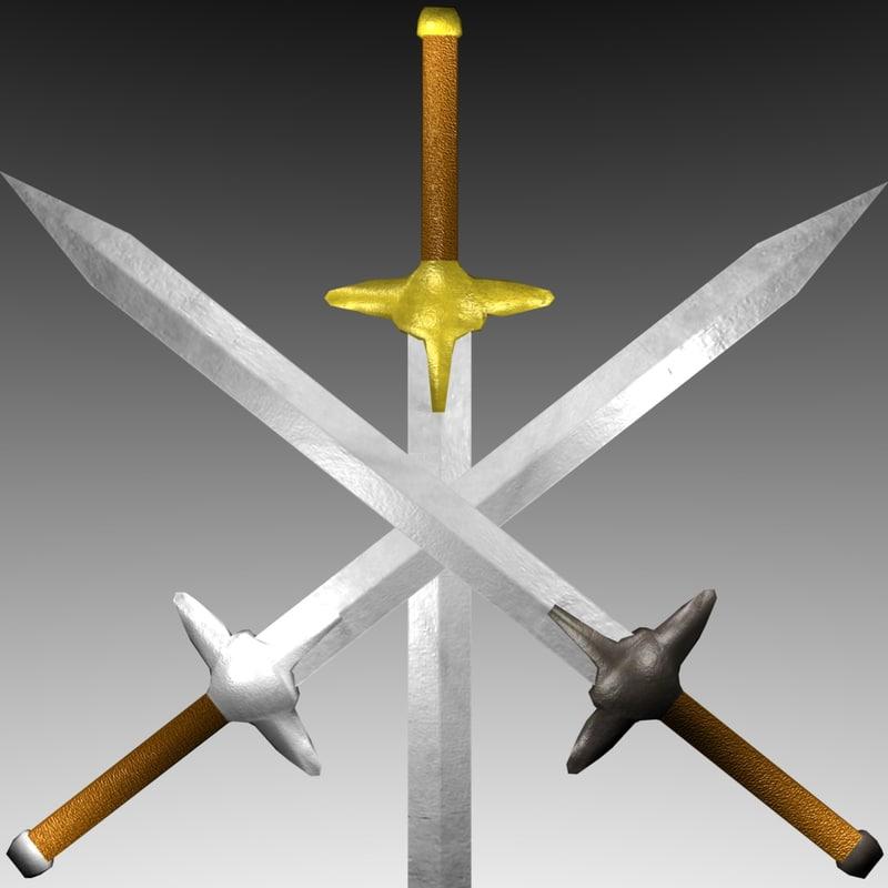 3d model sword polygons