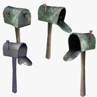 residential mail box 3d 3ds