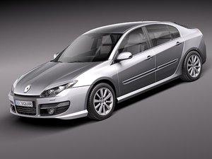 renault laguna 2011 sedan 3d model