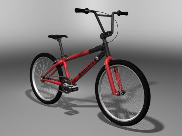 bmx bicycle 3d max