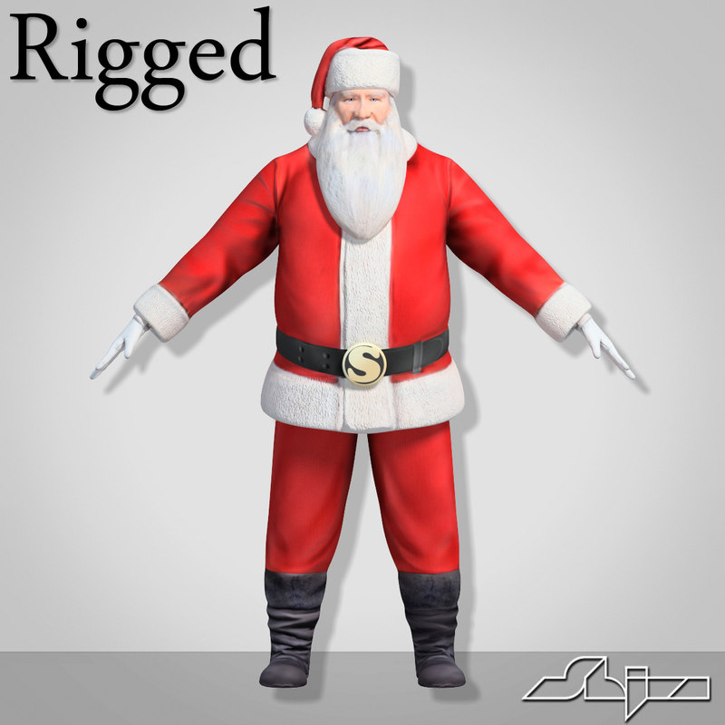 santa claus rigged character max