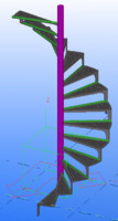 iron spiral staircase 3d model