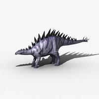 3d tuojiangosaurus dinosaur stegosaurus