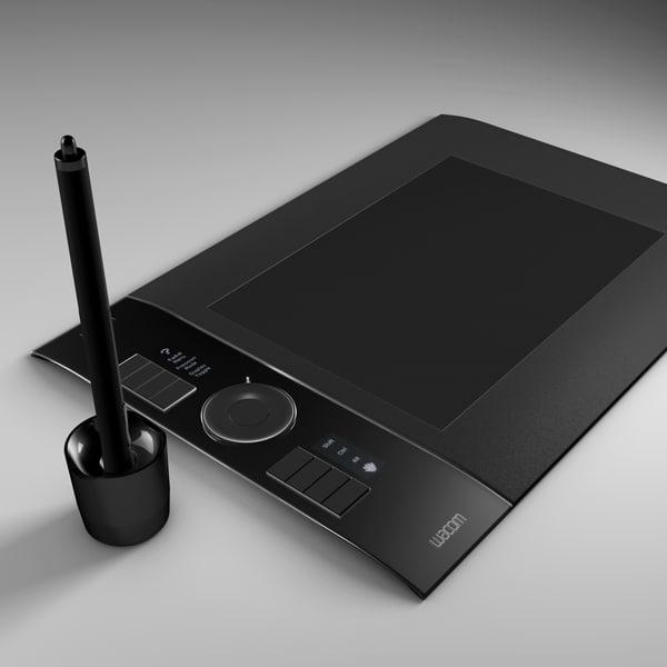 wacom intuos4 graphics 3d model