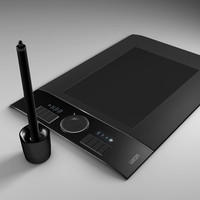 wacom intuos4 graphics 3d model