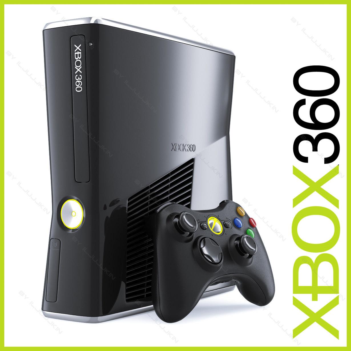 xbox 360 slim 250gb 3d model