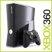 Xbox 360 Slim 250GB Console and wireless controller