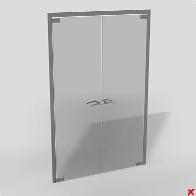 3d model office glass door