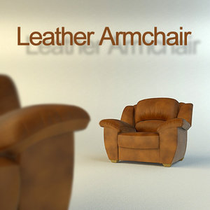 leather armchair 3d max