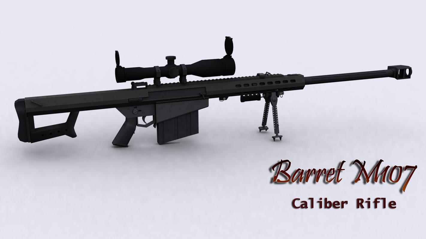 barret m107 3d model