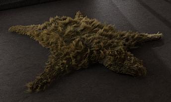 3d model interior bear skin