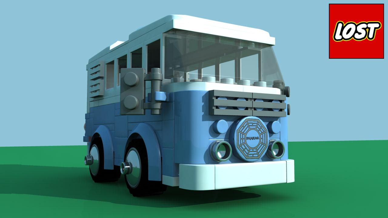 3d model lego lost dharma van
