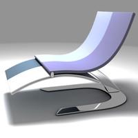 chair chaise longe 3d max