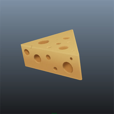 cheese hat 3d ma