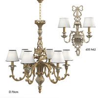 chelini fle0 94 classic chandelier wall sconce
