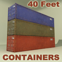 iso cargo 40 ft 3d max