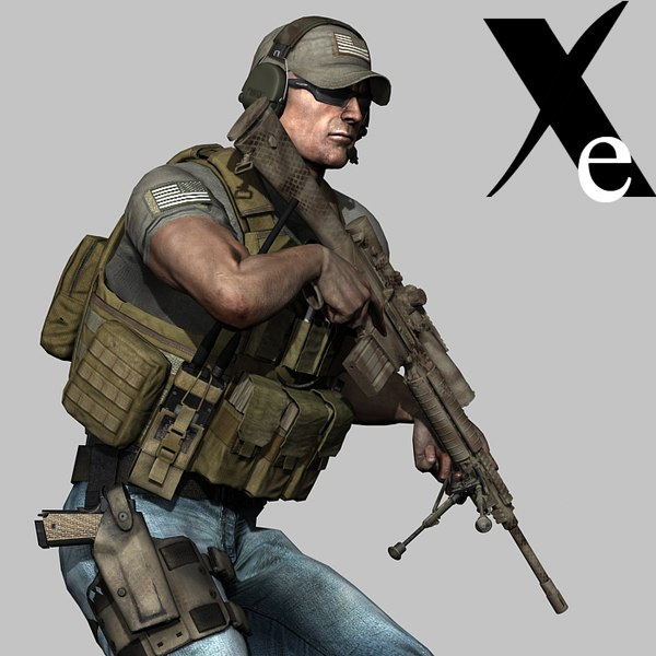 xe private military contractor 3d model