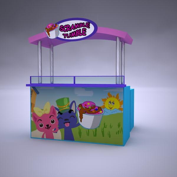 3d food cart