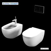 Hansgrohe Architec 254609 wc bidet toilet wall mounted washdown  modern contemporary