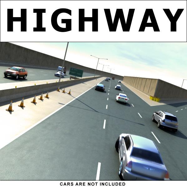 highway street road sets 3d model