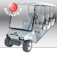 club car villager 8 3d max